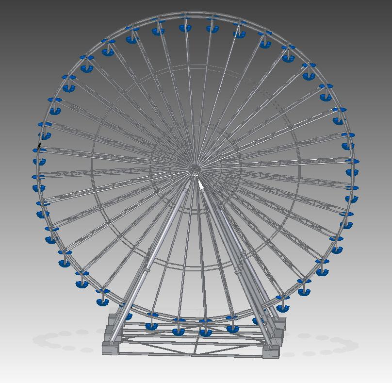 Used ride RL46 Ferris Wheel (Lamberink BV)