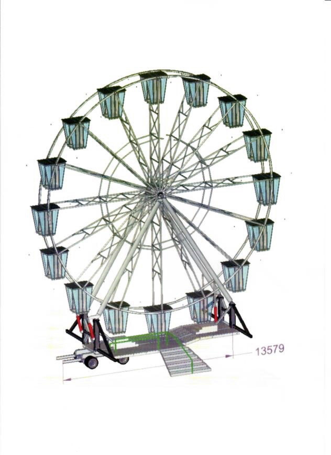 New equipment RL22 Ferris Wheel (Lamberink)