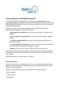 Privacy Policy Statement AVG : GDPR_1